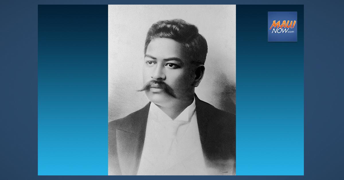 Conference to Mark 150th Birthday of Prince Jonah Kūhiō Kalaniana'ole