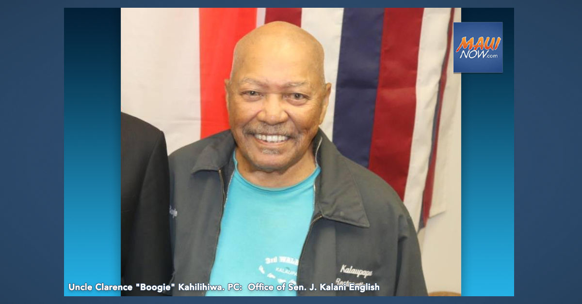 "Sen. English Statement on Passing of Kalaupapa Resident Clarence ""Boogie"" Kahilihiwa"