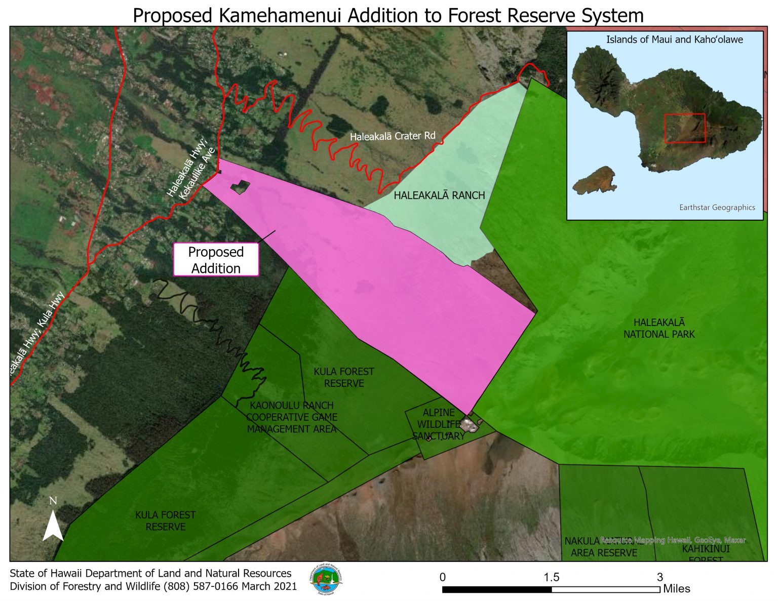 """State Seeks to Restore """"Mauna Lei"""" Band of Forest that Once  Encompassed Haleakalā"""