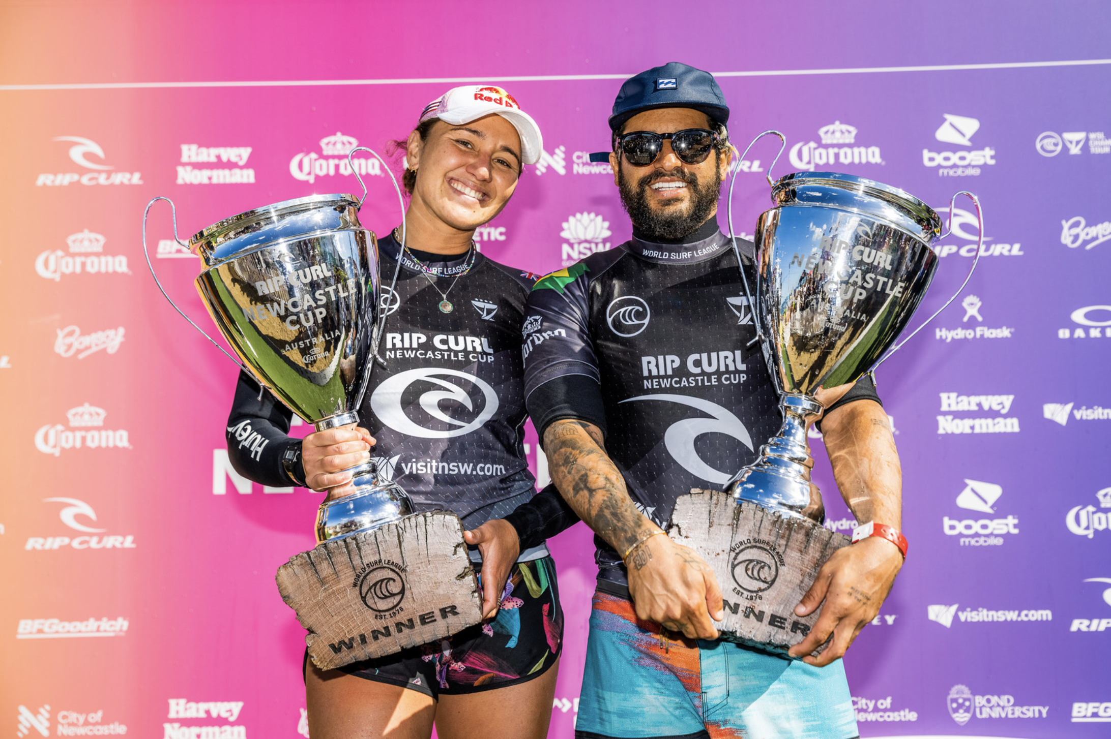 Carissa Moore and Italo Ferreira Win Rip Curl Newcastle Cup Presented by Corona