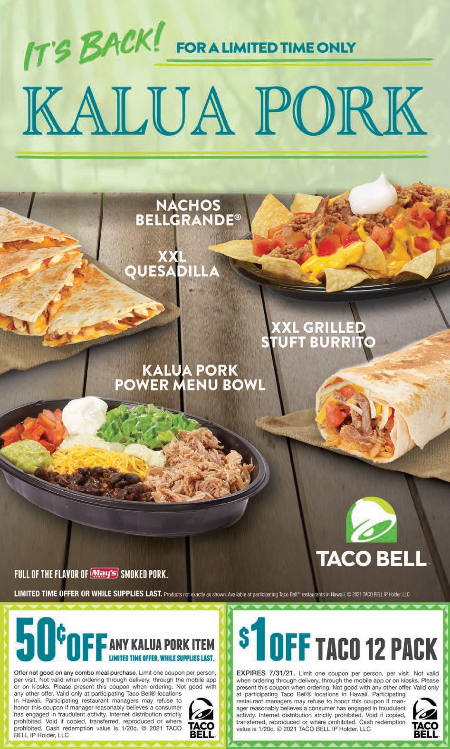 Taco Bell Kalua Pork