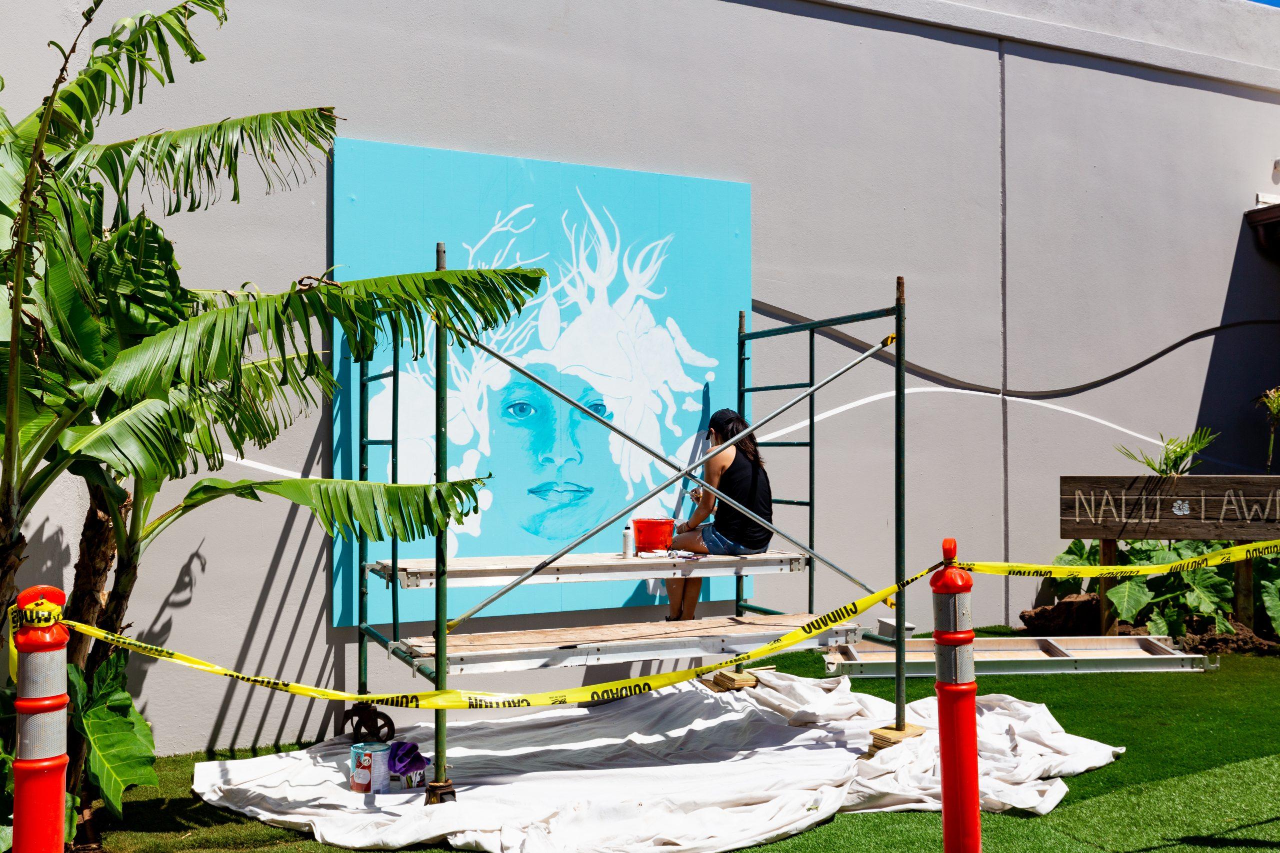 'Vanishing' Mural at Maui Ocean Center Highlights Plight of Hawai'i's Coral Reefs