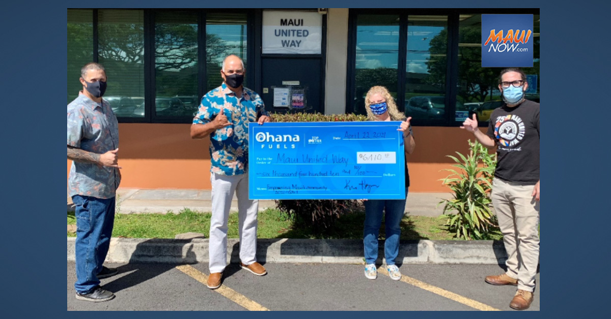 Maui United Way Benefits from 'Ohana Fuels Donation