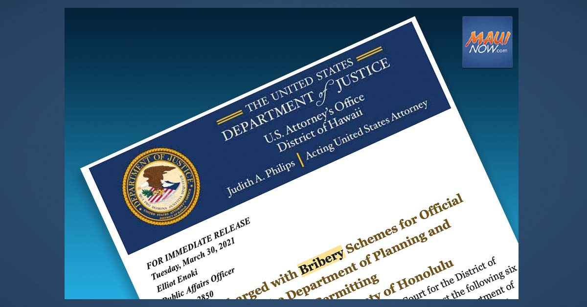 Federal Indictment Alleges Bribery Scheme by Honolulu Planning Dept. Employees