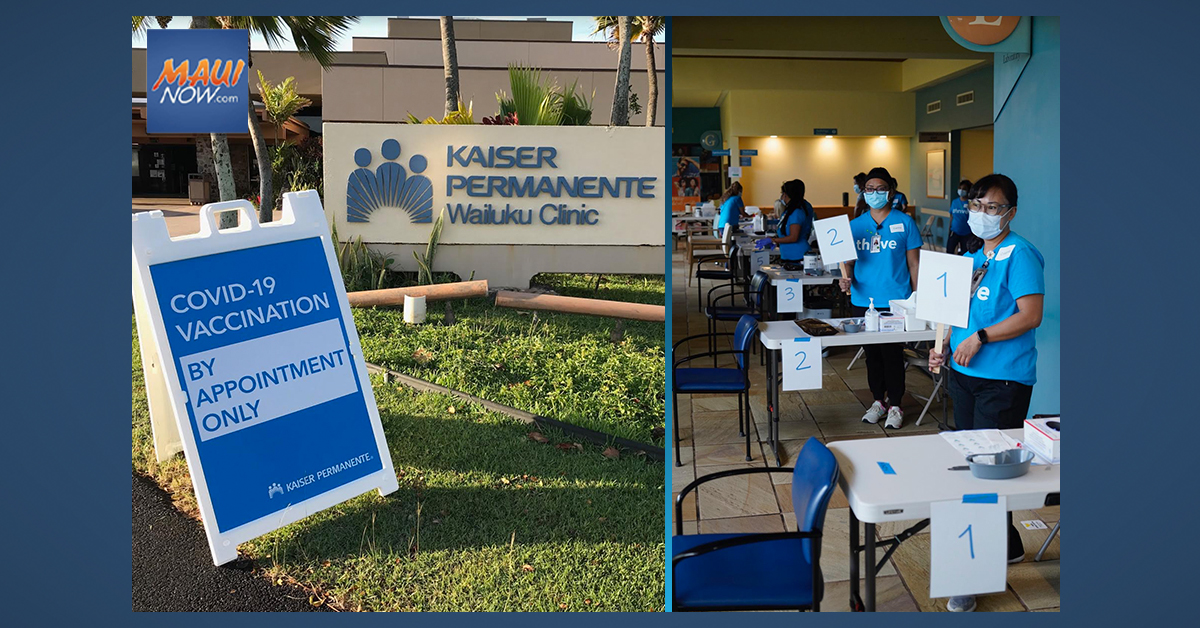 1,000+ Doses Administered at Wailuku Mass Vaccination Event Today
