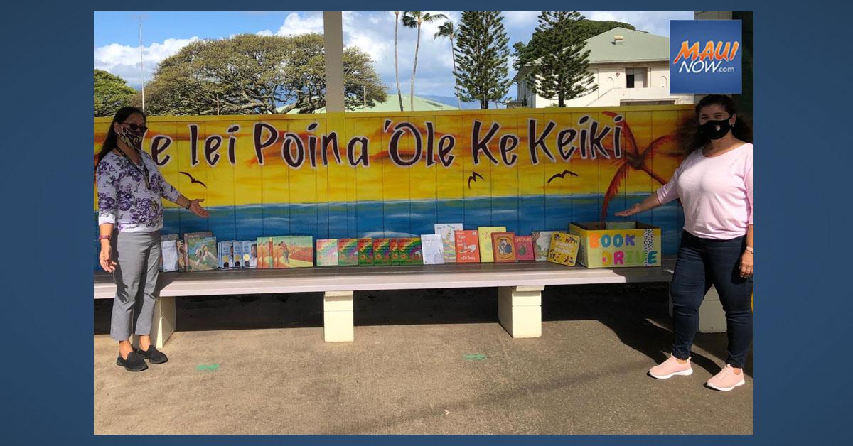 Maui Job Corps Collects 100 Books for Pā'ia Elementary School