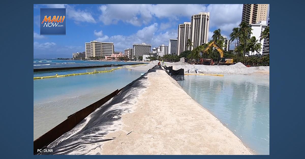 Waikīkī Beach Undergoes Sand Replenishment for Second Time in a Decade