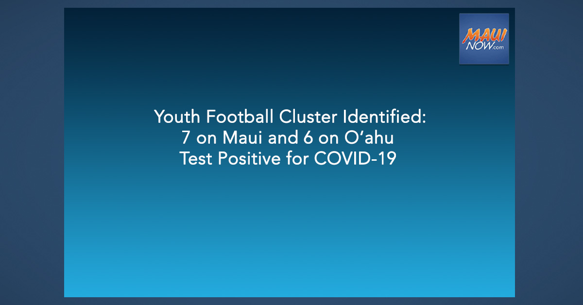 Youth Football Cluster Identified: 7 on Maui and 6 on O'ahu Test Positive for COVID-19