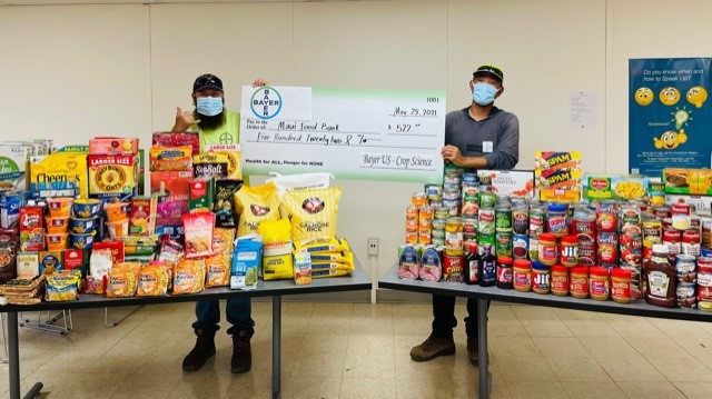 Bayer Hawaiʻi Donated 2,700 Pounds of Food in Support of World Hunger Day