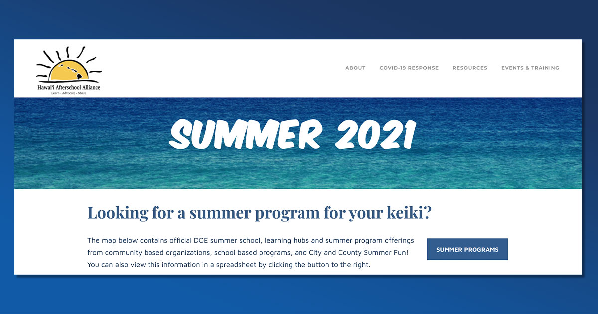 New Website Helps Parents Find Summer Learning Opportunities for Children