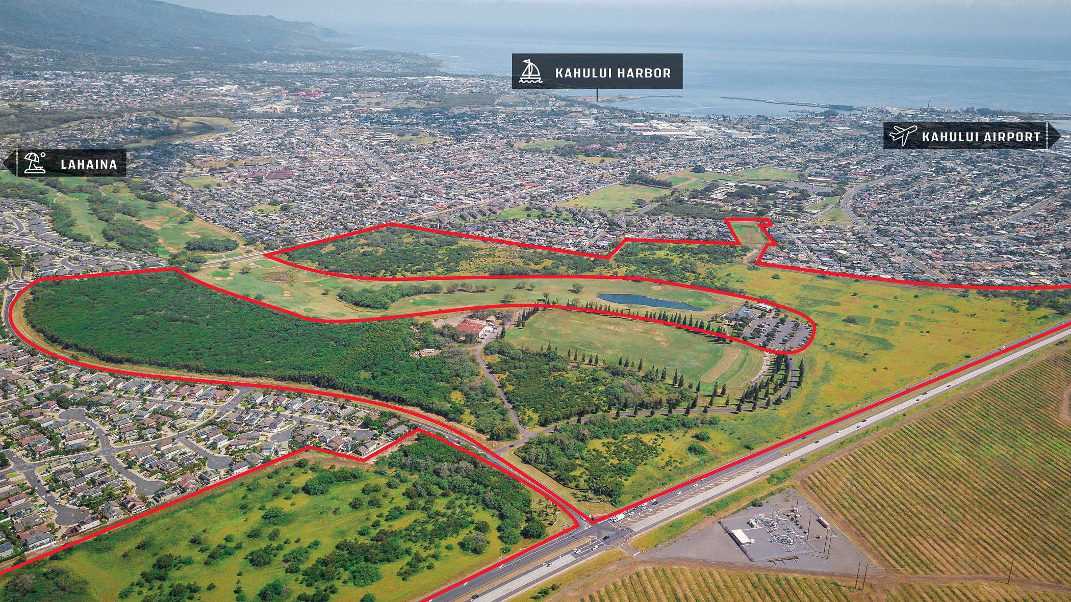 460 Acres Entitled for 1,900 New Housing Units in Central Maui Hub for Sale