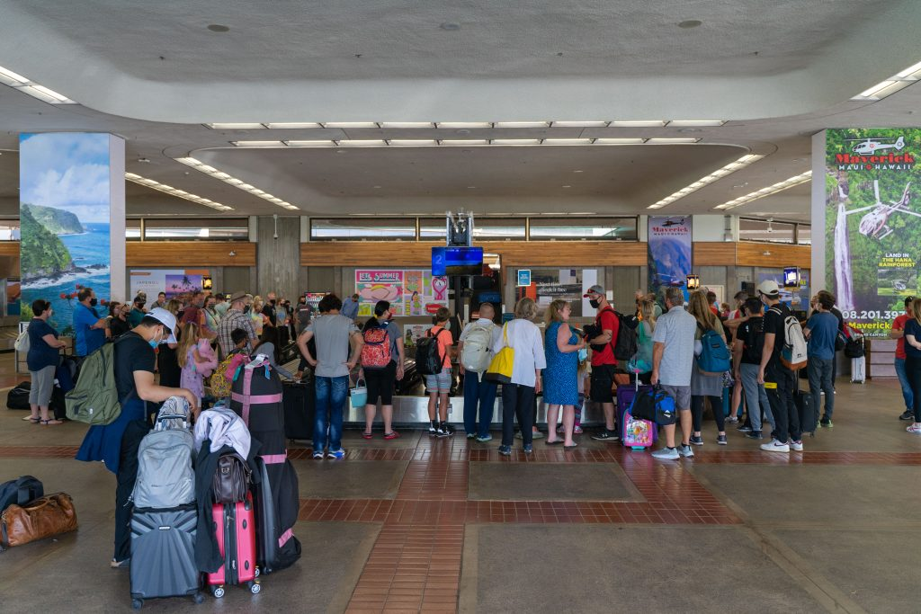 Kahului Airport: May 29, 2021. Photo by JD Pells