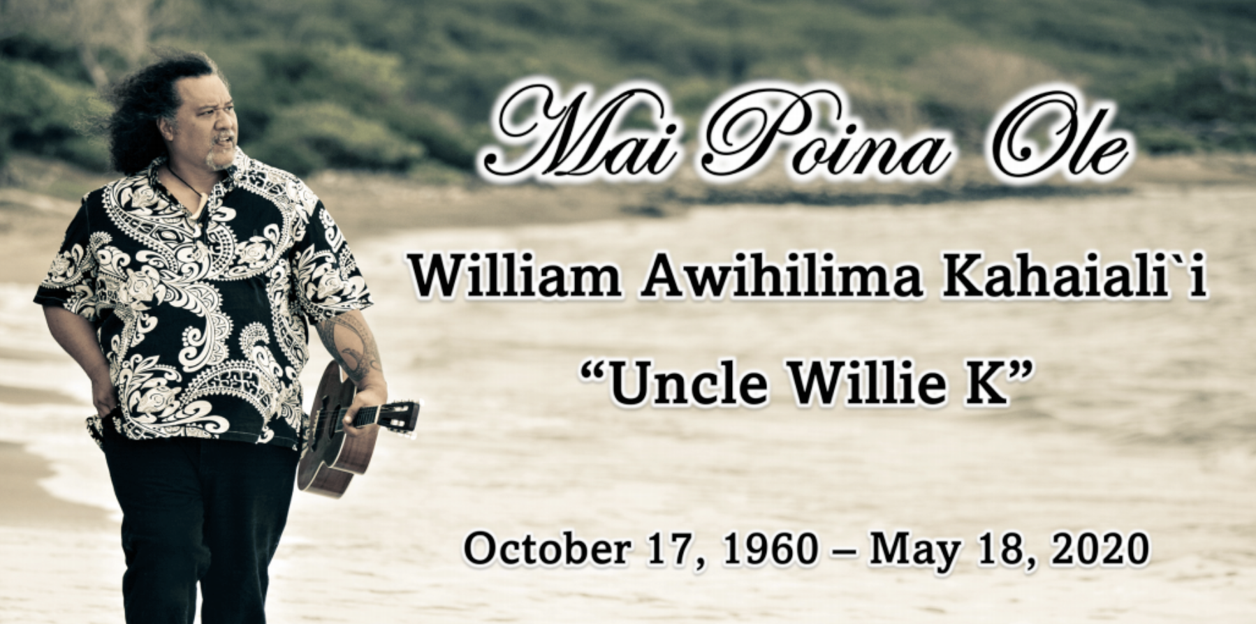 Celebration of Life Planned for the Late Willie K