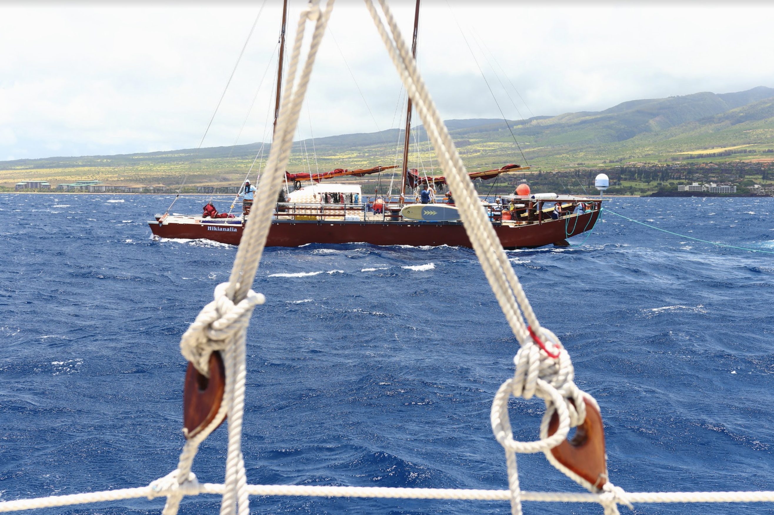 High Winds May Delay Hōkūleʻa and Hikianalia's Departure from Lahaina Until the Weekend