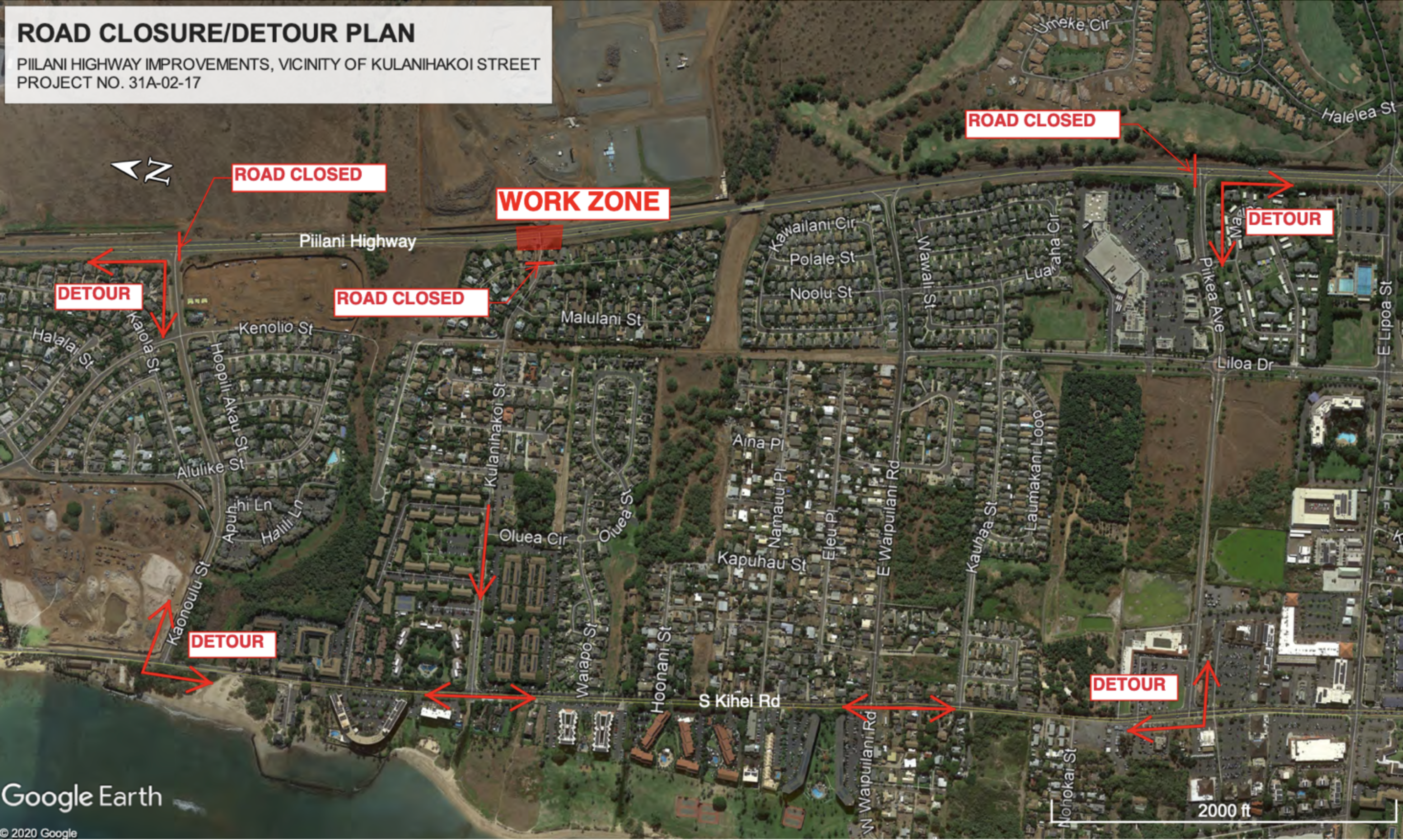 Nightly Closures for Pi'ilani / Kūlanihākoʻi Signal Installation Begin May 24