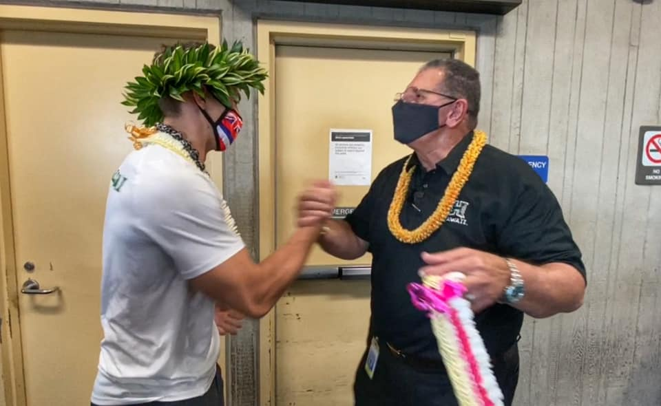 Surprise Homecoming for UH Volleyball Player Colton Cowell on Maui