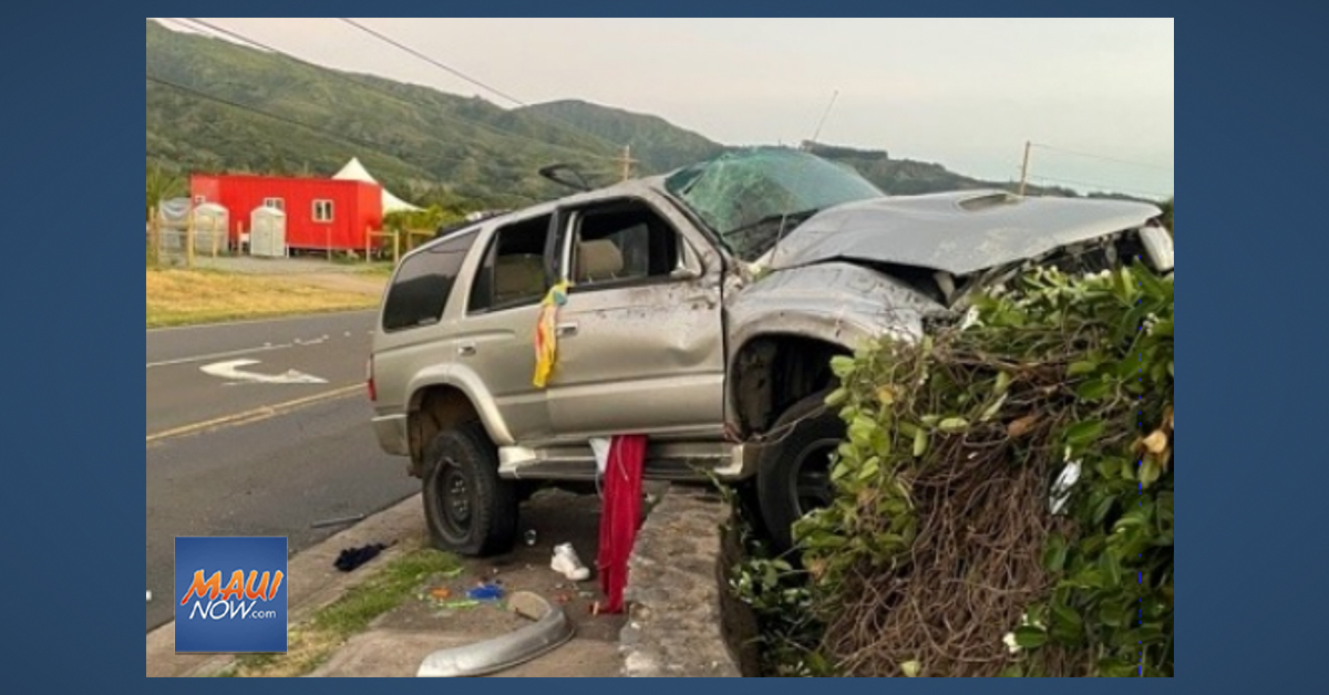 Deadly Memorial Weekend Crash Claims Life of Maui Teen