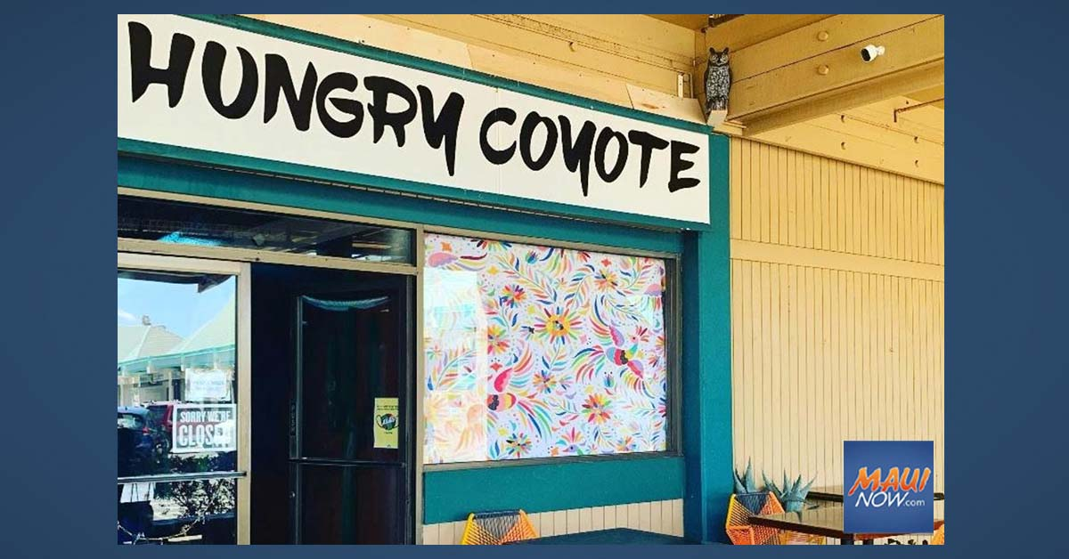 Hungry Coyote Restaurant in Lahaina Now Open