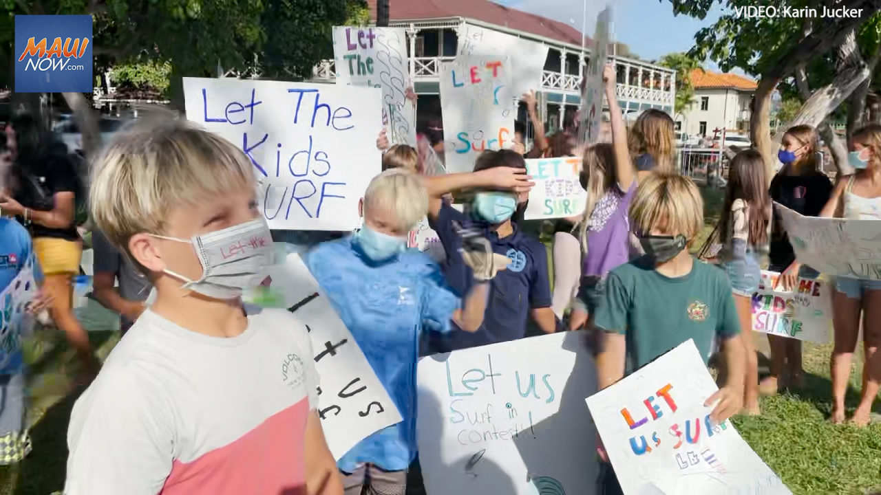 Surfers Rally for Resumption of Keiki Competitions