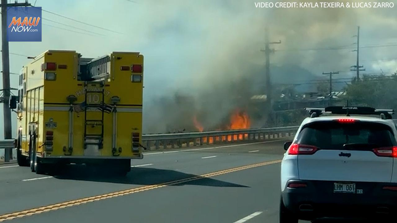 Kīhei Brush Fire Scorches 2.5 Acres N. of Kanani Rd.