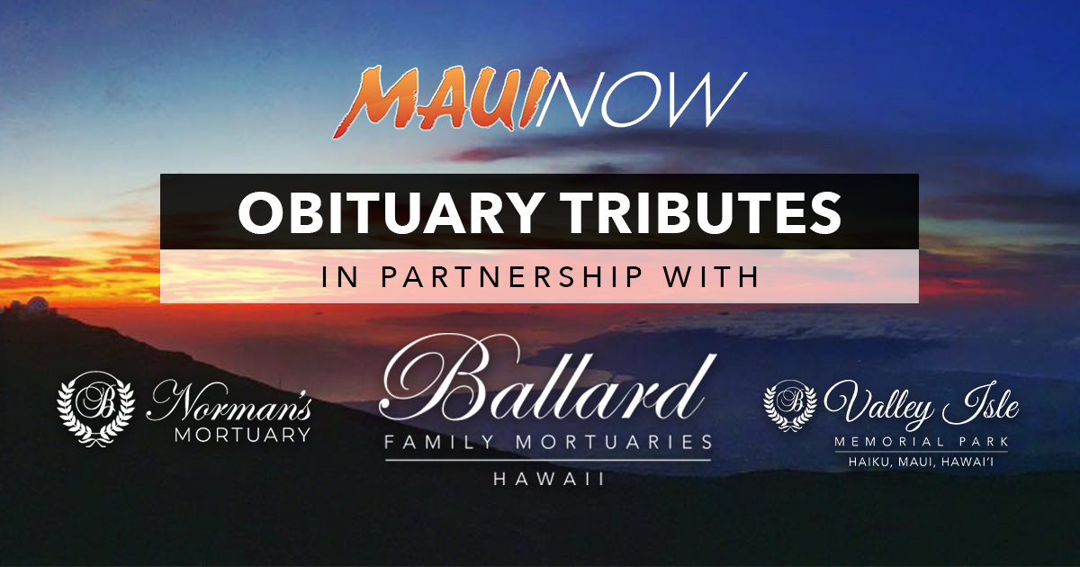 Maui Obituaries: Week Ending May 9, 2021