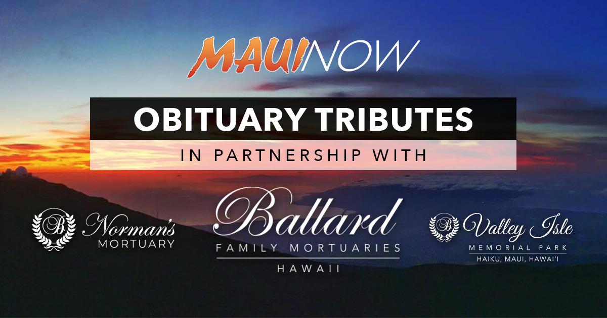 Maui Obituaries: Week Ending Sept. 5, 2021