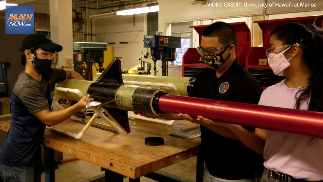 UH Engineering Students Prep Rocket for National Competition