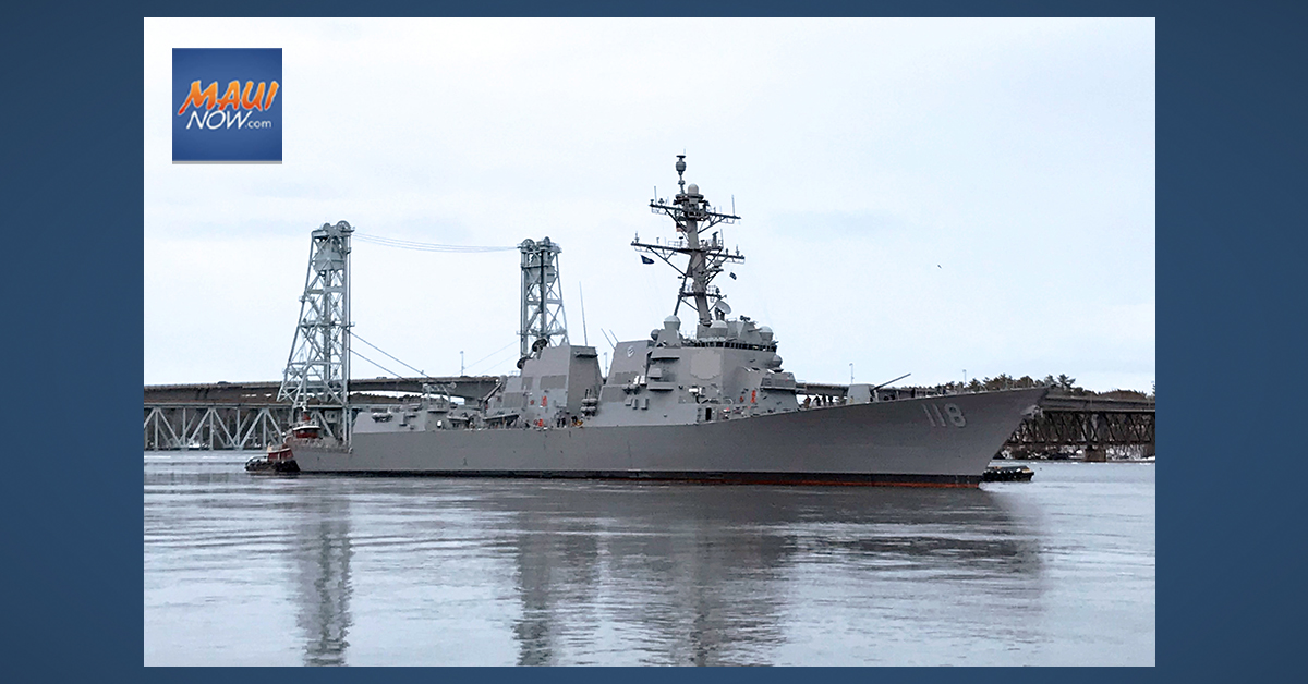 Commissioning of USS Daniel Inouye Expected in December 2021