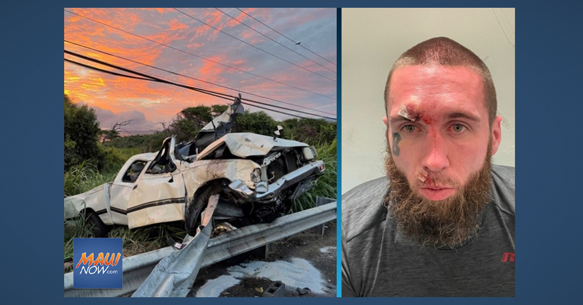 Waiehu Crash Claims Life of Wailuku Woman; Driver Arrested