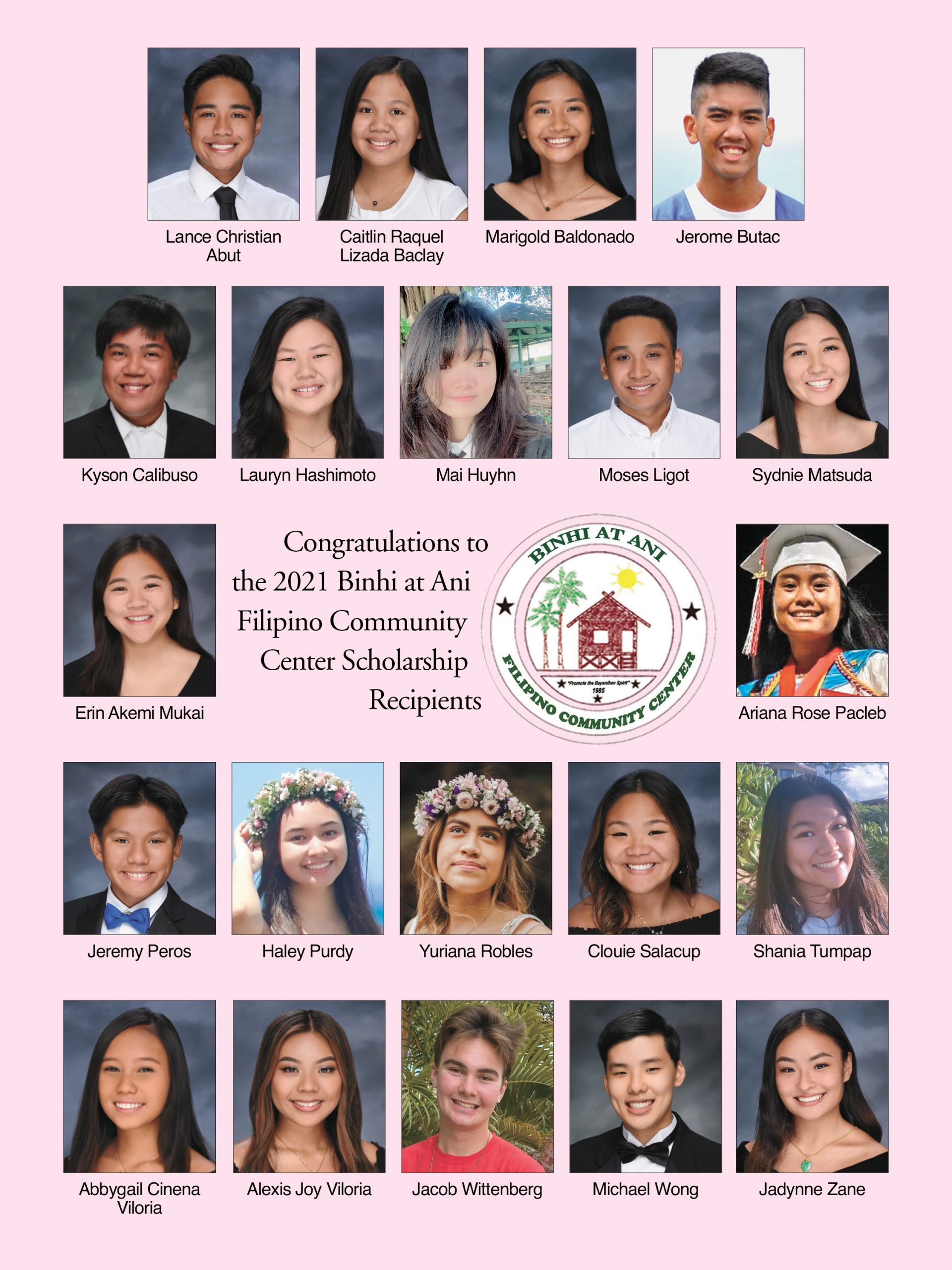 Binhi at Ani Awarding 21 Scholarships to the Class of 2021 on Maui