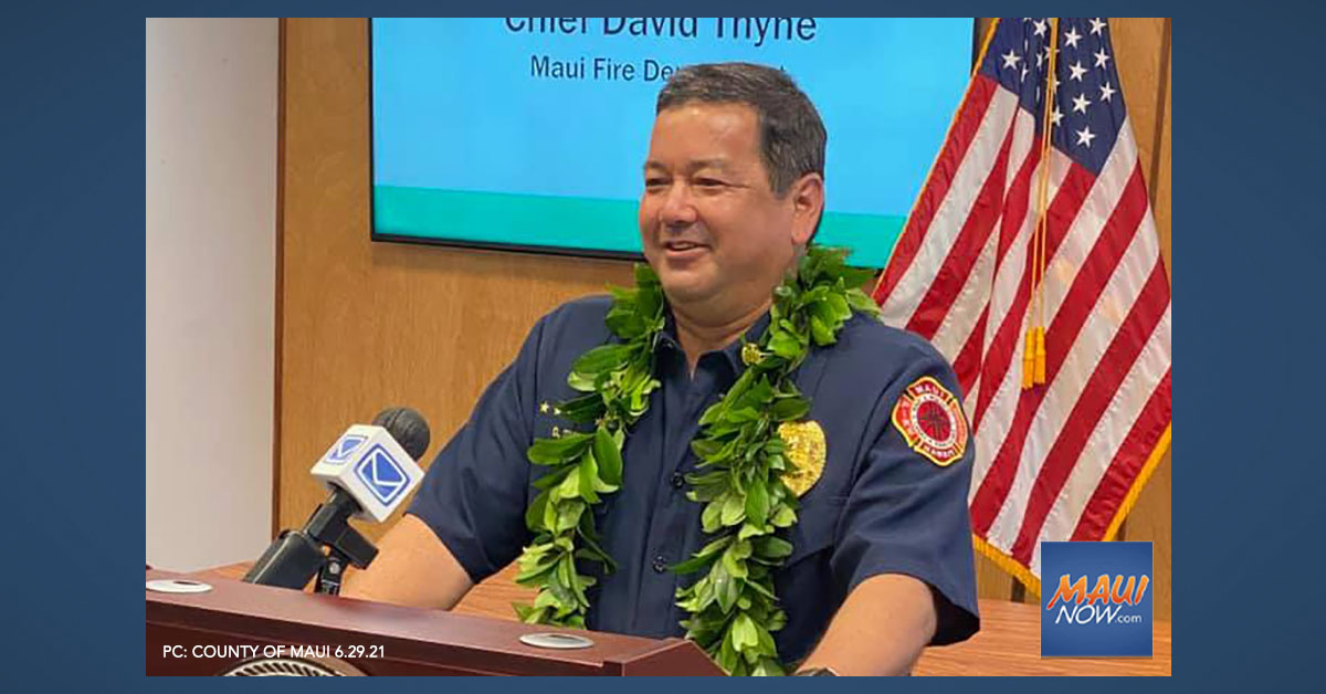 """Maui Fire Chief Says Last Day on the Job is """"Bittersweet"""""""