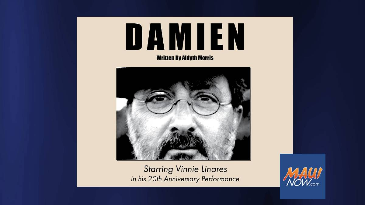 Live Theatre Returns to ProArts Playhouse in Kīhei with Damien Starring Vinnie Linares