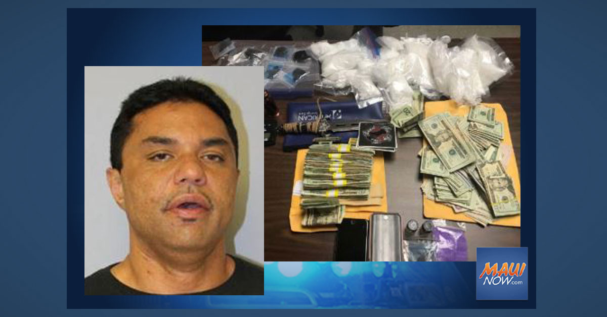 Maui Man Arrested on Drug Charges, Two Others Released Pending Investigation