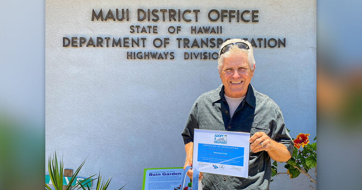 Hāna  Highway Cleanups Are a Family Affair; Notestone Family Honored