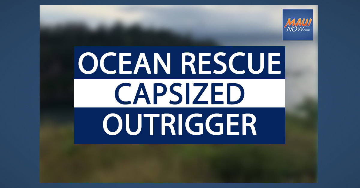 Paddlers Rescued from Capsized Outrigger Canoe in Maui Waters