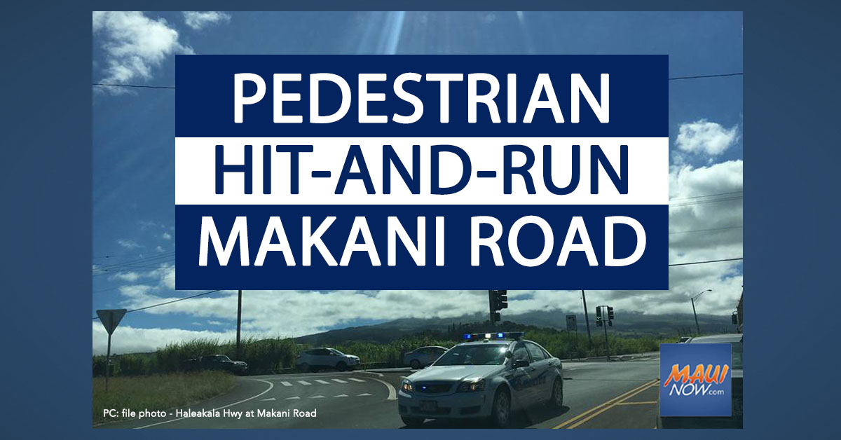 Pedestrian Suffers Life-Threatening Injuries in Hit-And-Run on Makani Road, Maui