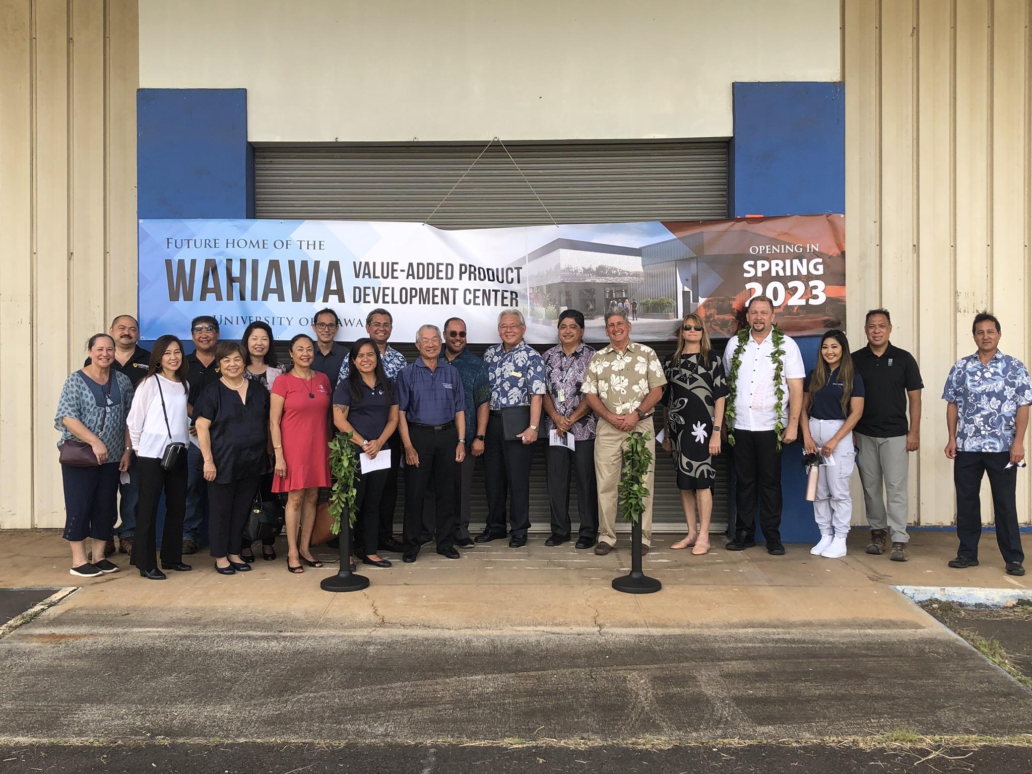 University of Hawai'i Value-Added Product Development Center Holds Groundbreaking