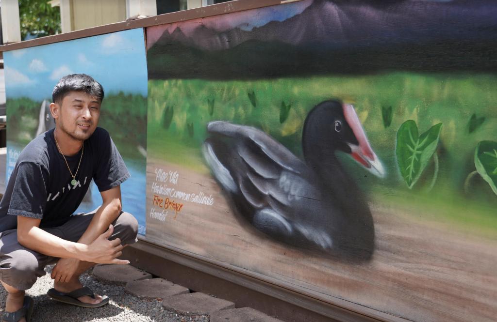 Kaua'i Artist Paints Brighter Future for Native Birds   Maui Now