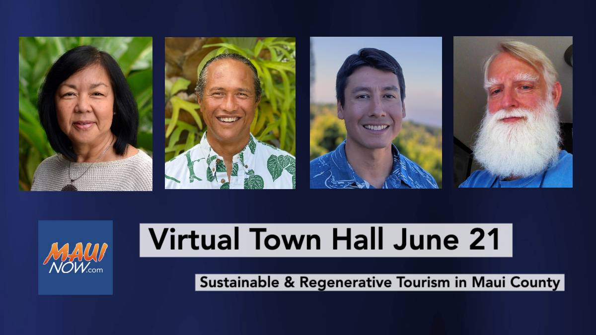 Public Invited to Virtual Town Hall June 21 about Sustainable Tourism in Maui County
