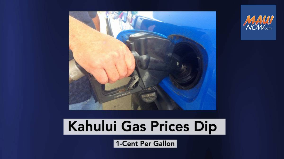 Gas Update: Prices Decrease 1-Cent Per Gallon in Kahului during Past Week