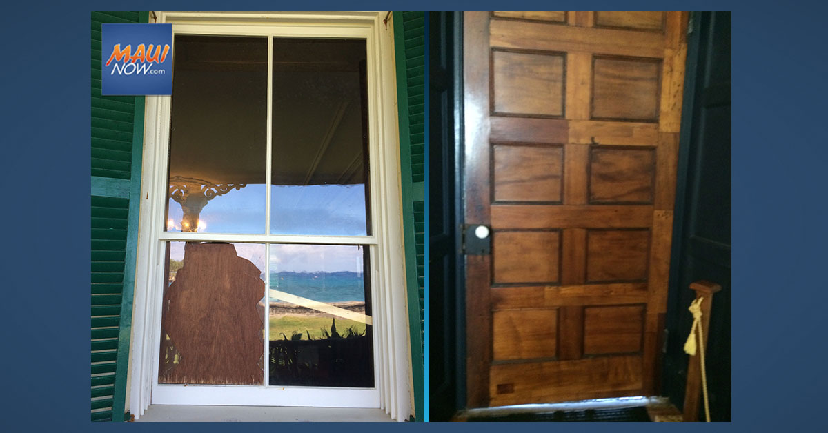 200-Year-Old Window and Door Damaged During Break-In at Huliheʻe Palace