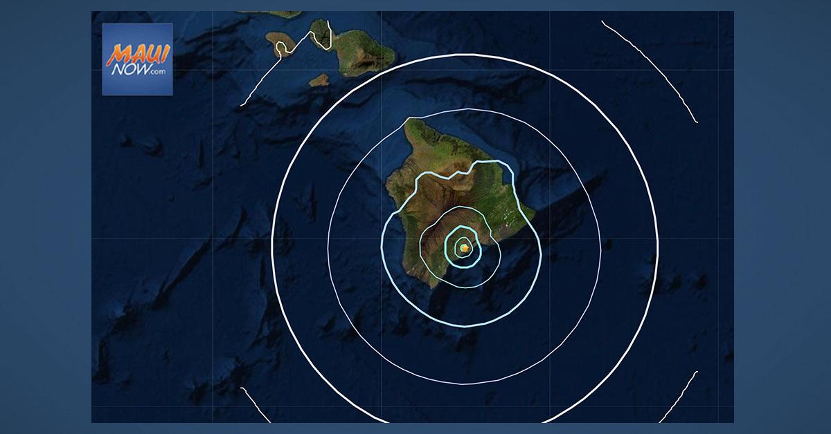 No Tsunami Threat to Hawai'i After 4.5 Big Island Earthquake