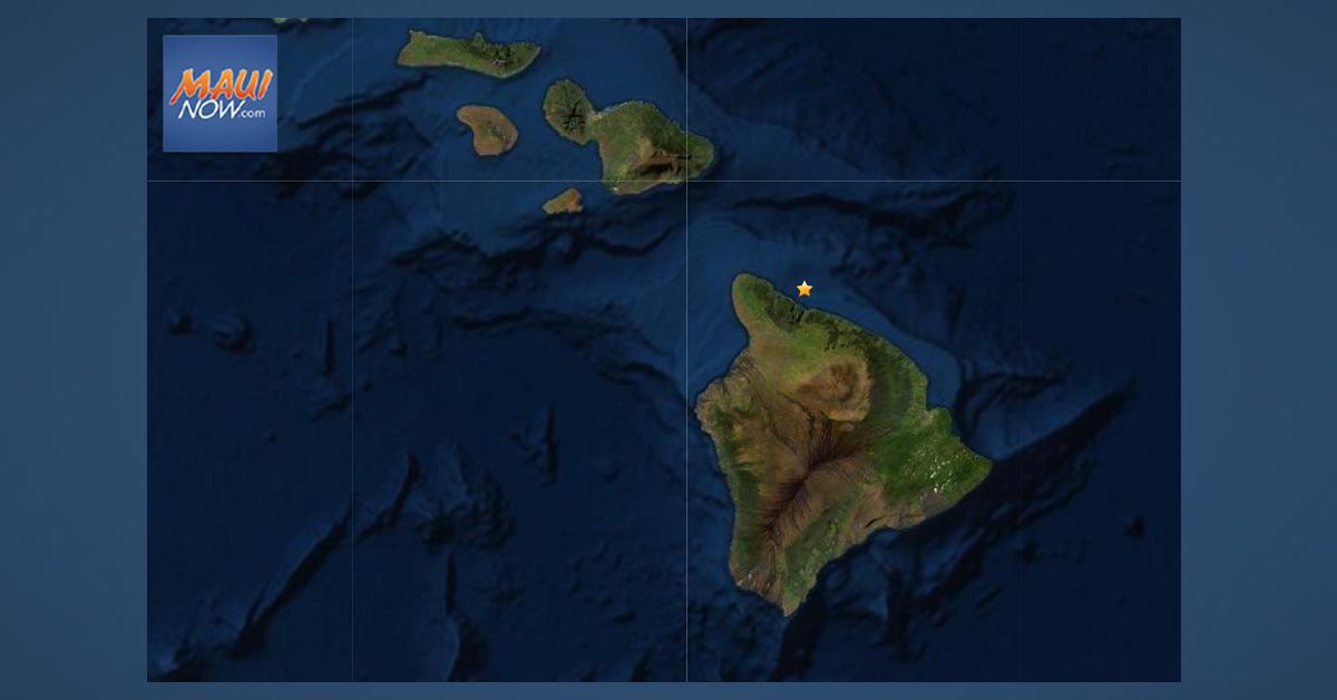 No Tsunami Expected After 5.2 Earthquake Off Hamakua Coast of Hawai'i Island