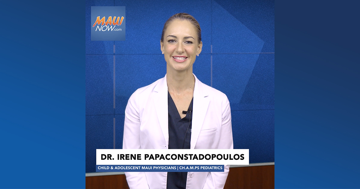 WATCH: Maui Health's Medical Minute Provides Back to School Tips For Children After Staying Home During COVID-19