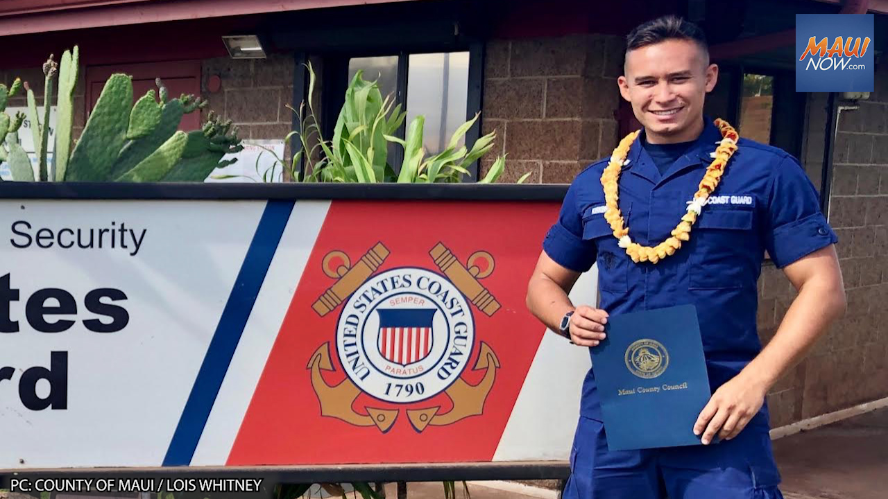"""Maui Council Honors Seaman Theodore Kirkbride, National """"Enlisted Person of the Year 2021"""""""