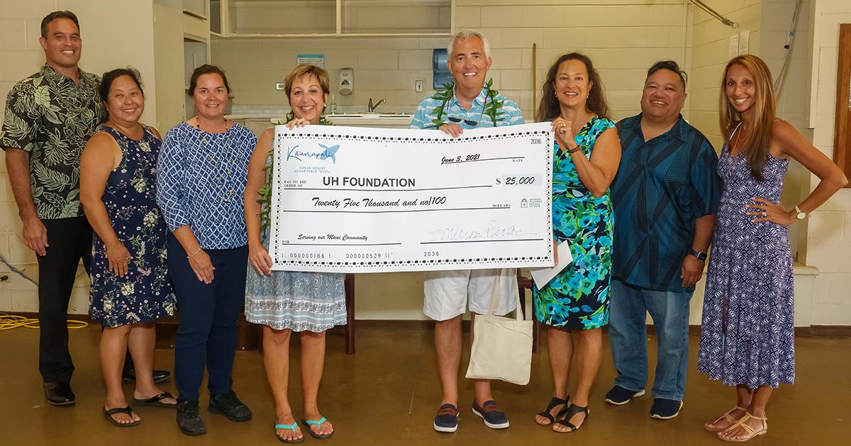Kā'anapali Ocean Resort Foundation Supports UHMC Workforce Development