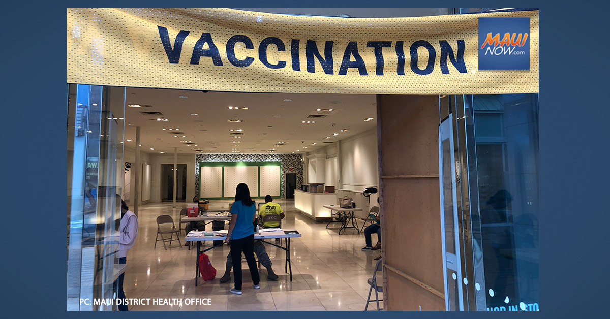 MDHO Hosts Pop-Up Vaccine Clinic Fridays in July at the Queen Kaʻahumanu Center