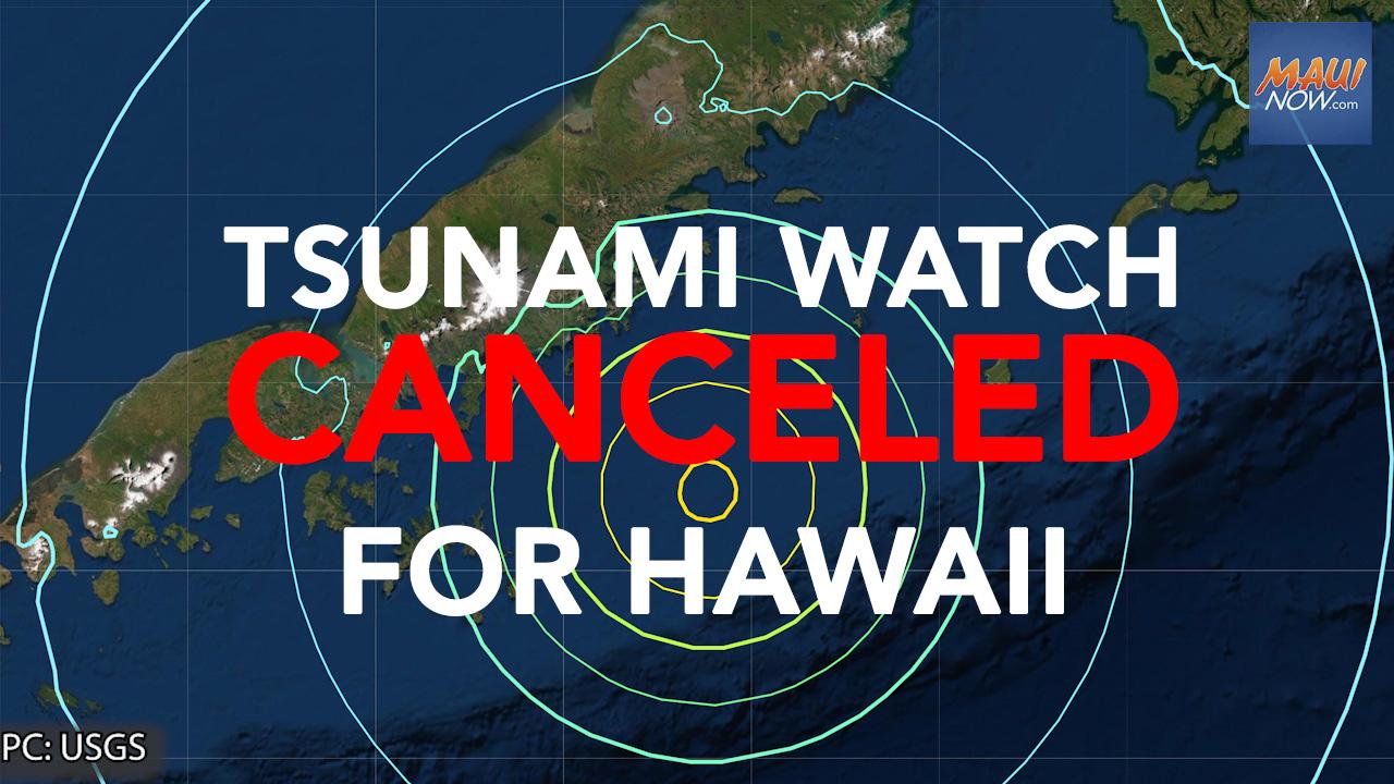 UPDATE: Tsunami Watch CANCELED for Hawaii Following 8+ Alaska Earthquake