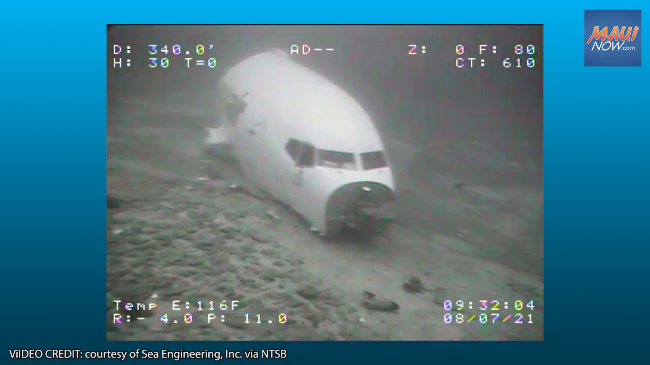 New Images of Downed Cargo Plane Bound for Maui, That Ditched in O'ahu Waters July 2