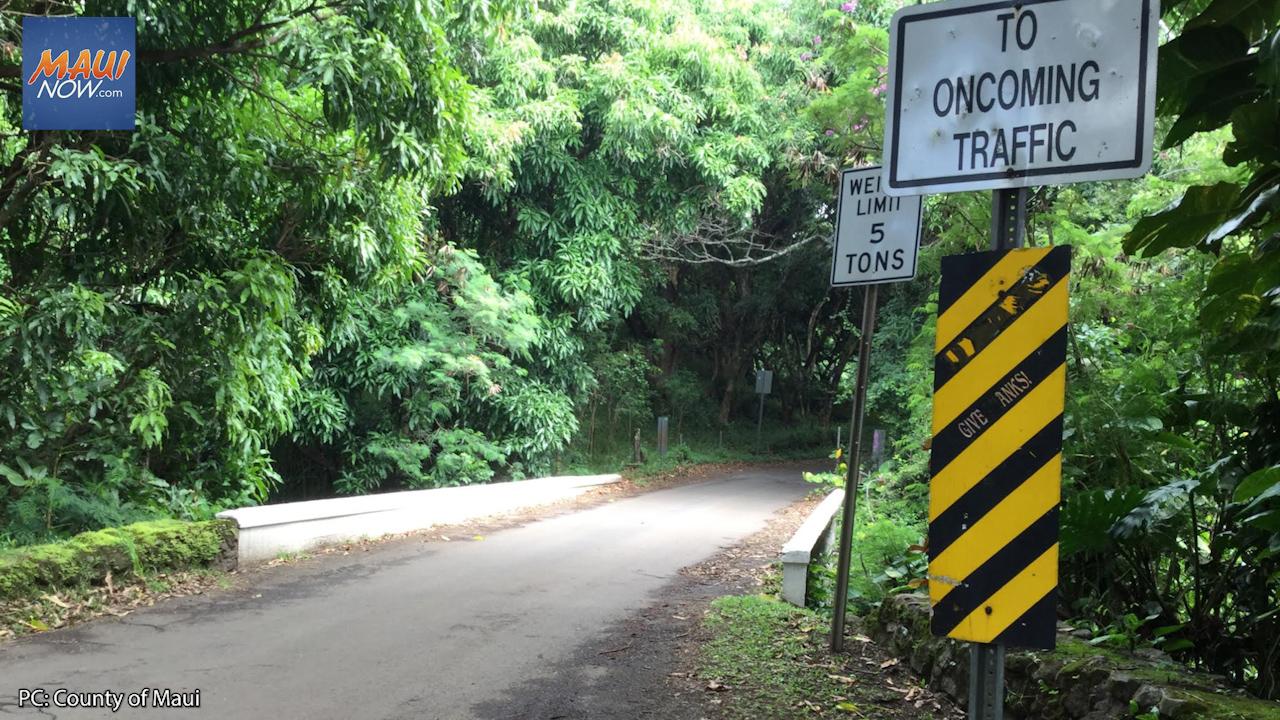 Weight Limit Enforced During $1.3 M Bridge Repair at Koukou'ai in Kīpahulu, Maui